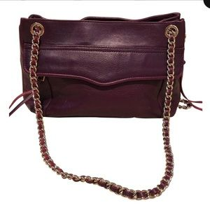 Rebecca Minkoff Purple Swing Double Chain bag